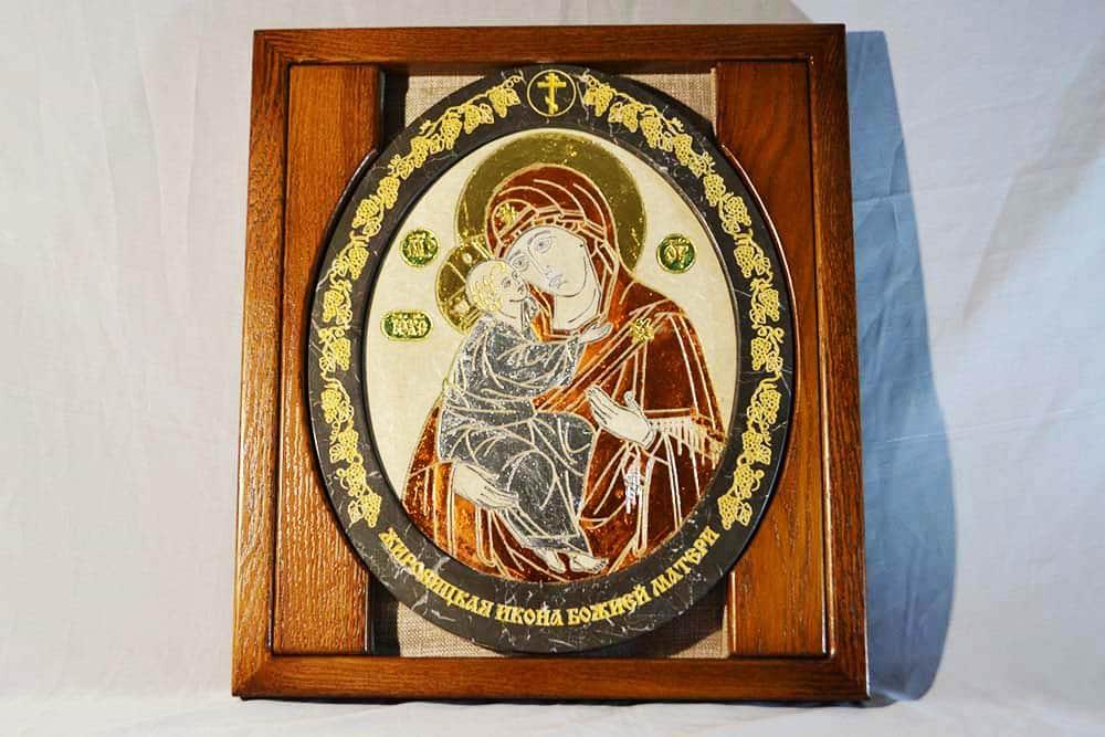 Икона Жировицкой Богородицы от камня от Гливи