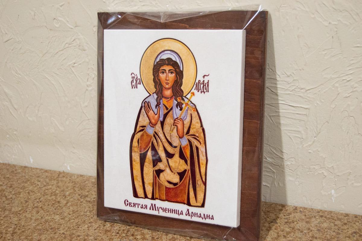 Икона Святой Ариадны Сувенирная на мраморе, изображение, фото 2