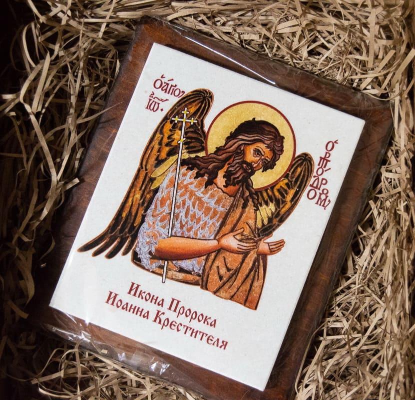 Икона Святой Елены Равноапостольной на мраморе, сувенирная, изображение, фото 4
