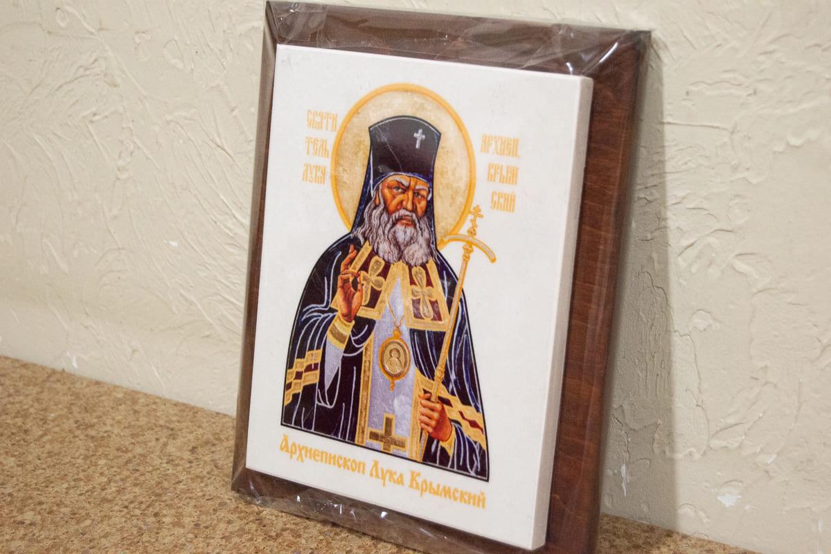 Икона Святого Луки Крымского на мраморе, сувенирная, изображение, фото 2
