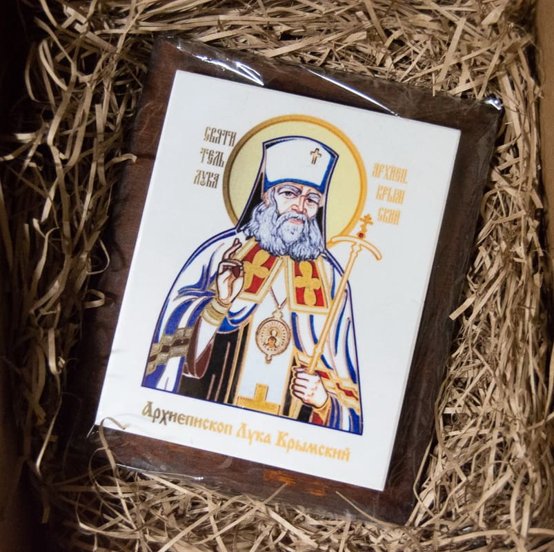 Икона Святого Луки Крымского на мраморе, сувенирная, изображение, фото 4