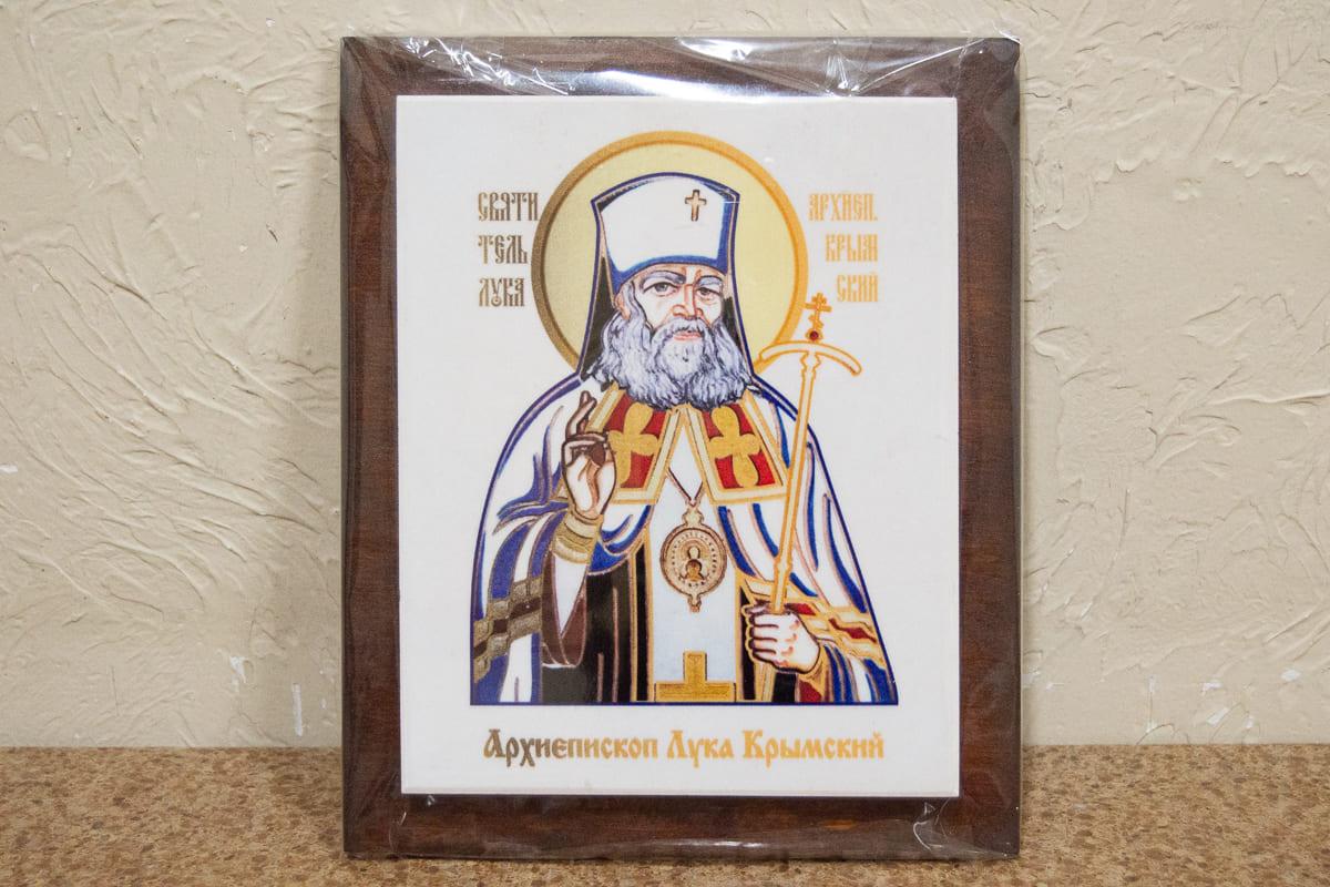 Икона Святого Луки Крымского на мраморе, сувенирная, изображение, фото 1
