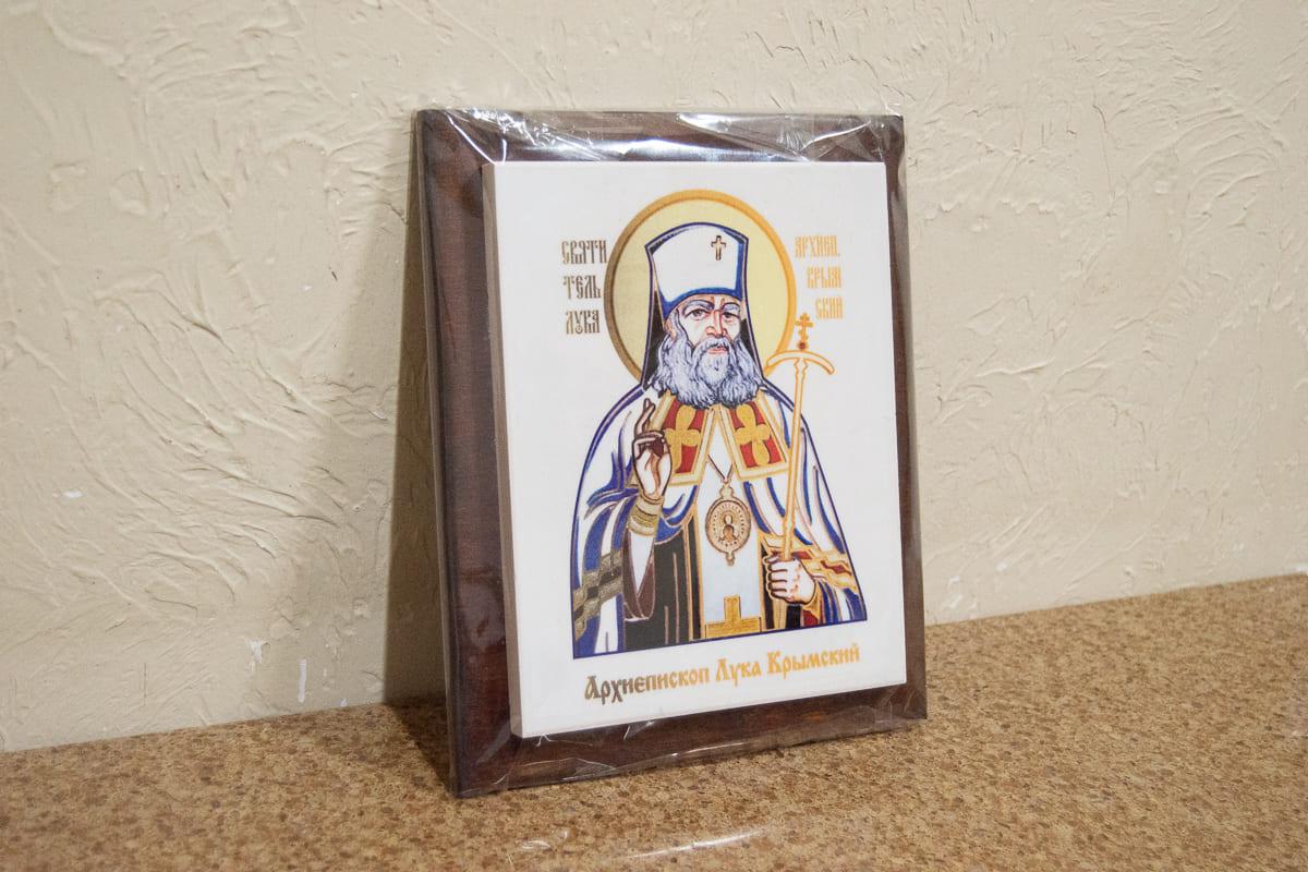 Икона Святого Луки Крымского на мраморе, сувенирная, изображение, фото 3